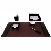 DACASSO® Brown Leather 6-Piece Econo-Line Desk Set