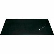 "DACASSO® Black Leather 34"" x 20"" Desk Mat without Rails"