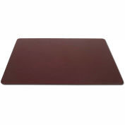 "DACASSO® Chocolate Brown Leather 34"" x 20"" Desk Mat without Rails"