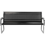 Skyline Black Steel/Stainless Steel 6' Bench
