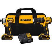 DeWALT DCK277C2 20V MAX Compact Brushless Drill/Driver Impact Combo Kit (2)1,5Ah Batteries - Chargeur