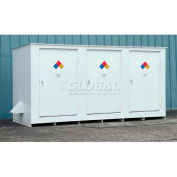 "Denios N-Series 19' 8""W x 5' 10""D x 5' 8""H, Non-Combustible Outdoor Storage Building For 14 Drums"