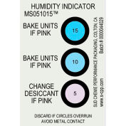 Humidité indicateur carte 5% 10% 15% gamme 125 Pack