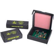 """Protektive Pak Small ESD Component Shipping &Storage Boxes, 4-1/8""""L x 3-1/16""""W x 1""""H, Noir, qté par paquet : 5"""
