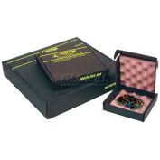 """Protektive Pak ESD Shipping & Storage Boxes w/ Foam, 10-1/2""""L x 8-1/2""""W x 2-1/2""""H, Black - Pkg Qty 5"""