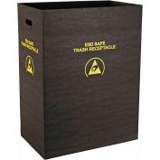 Protektive Pak 36 gallons statique dissipatif poubelle réceptacle, grande économie, Black - 37815