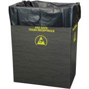 Protektive Pak 2.00 Mil Static Dissipative Trash Can Liner, 10 Gallon, Black, Pkg. Qty. 50 - 37820