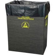 2 Mil Static Dissipative Trash Can Liner, 55 Gallon, Noir, Pkg. Qty. 50 - 37821
