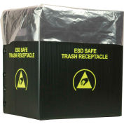 2 Mil Static Dissipative Trash Can Liner, 10 Gallon, Rose, Pkg. Qty. 50 - 37822