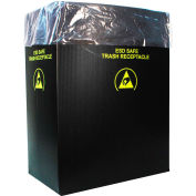 Protektive Pak 2.00 Mil Static Dissipative Trash Can Liner, 36 Gallon, Pink, Pkg. Qty. 50 - 37823