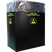 2 Mil Static Dissipative Trash Can Liner, 36 Gallon, Rose, Pkg. Qty. 50 - 37823