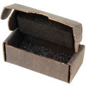 """Protektive Pak ESD Component Expédition &Boîtes de stockage avec mousse, 2-1 / 2 «L x 1-1 / 4 «W x 1""""H, Noir, qté par paquet : 10"""