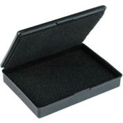 "Protektive Pak ESD Shipping & Storage Hinged Boxes w/ Foam, 1-5/16""L x 1-5/16""W x 15/32""H, Black - Pkg Qty 5"