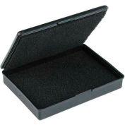 "Protektive Pak ESD Shipping & Storage Hinged Boxes w/ Foam, 4-3/16""L x 3-3/16""W x 33/64""H, Black - Pkg Qty 5"
