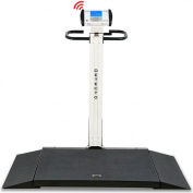 Detecto 6550 Digital Foldable Wheelchair Scale w/  Wheels & Built in Ramps, 1000 lb x 0.2 lb