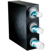 Dispense-Rite® BFL Countertop 3 Cup Dispensing Cabinet - Black