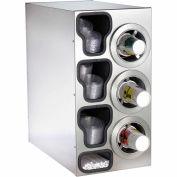 Dispense-Rite® Countertop SS Right 3 Cup Dispensing Cabinet w/Organizers