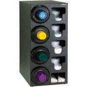 Dispense-Rite® Upright Left 4 Cup Dispensing Cabinet w/Lid, Straw Organizer