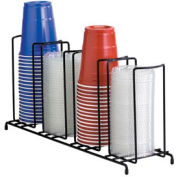 Dispense-Rite® WR-4 - 4 Section Wire Rack Cup and Lid Organizer