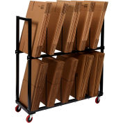 "2 Tier Carton Rack with 8 Dividers, 54-1/2"" x 18"" x 52"""
