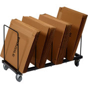 "Floor Carton Rack with Five 1/2"" Wire Dividers, 44"" x 18"" x 24"""