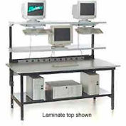 "Testing/LAN Station 72"" x 36"" with Chemical Resistant Plastic Laminate Top"