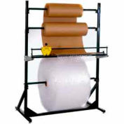 """Dehnco Multiple Roll Stand for 60"""" Material Width, 300 Lbs Capacity, Black & White"""