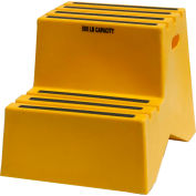 "2 Step Plastic Step Stand - Yellow 18-1/4""W x 24-1/2""D x 19-1/2""H - ST217-14"