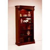 "Flexsteel Open Bookcase 42""W x 17""D x 76""H Cherry Finish - Balmoor Series"