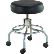 "Drive Medical 13034 Deluxe Wheeled Round Stool, 14"" Seat, 17.5""-24"" Adjustable Height"