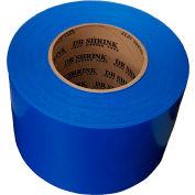 """Ruban thermorétractable de Heat Shrink Dr 4"""" W x 180' L 9 Mil bleu, qté par paquet : 12"""