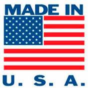 """Étiquettes en papier avec impression «Made In USA», 1""""L x 1""""W, blanc / rouge / bleu, rouleau de 500"""