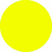"Bright Yellow Discs 1/2"" Dia."