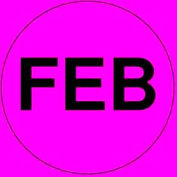 "Feb 2"" - Fluorescent Pink / Black"