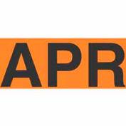 "Apr 3"" x 6"" - Fluorescent Orange / Black"