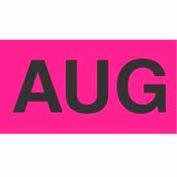 "Aug 3"" x 6"" - Fluorescent Pink / Black"