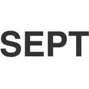 "Sept 2"" x 3"" - White / Black"