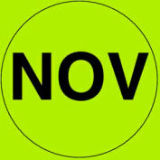 "Nov 2"" - Fluorescent Green / Black"
