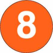 """4"""" Dia. Disc With #8 - Standard Orange / White"""