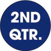 "2nd Quarter 2"" Dia. - Dark Blue / White"