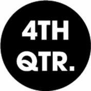 """4th Quarter 2"""" Dia. - Black / White"""