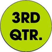 "3rd Quarter 2"" Dia. - Fluorescent Green / Black"