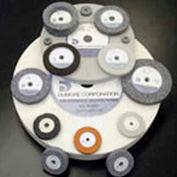 Dumore 774-0201 Grinding Wheel, 4X3/8X.375, 80 Grit, Code 4, Off White