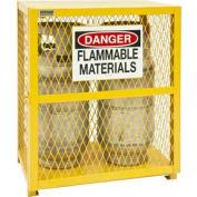Cabinet vertical de stockage de cylindre de gaz EGCVC2-50 -Holds 2 20 Lb ou 33. 5Lb LPG Cylinders Manuel Fermer