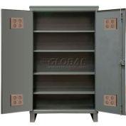 """Durham Heavy Duty Outdoor Shelf Cabinet HDCO246078-4S95 - 12 Gauge 60""""W x 24""""D x 78""""H"""