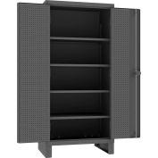 """Durham Heavy Duty Pegboard & Shelf Cabinet HDCP243678-4S95 - 12 Gauge 36""""W x 24""""D x 78""""H"""
