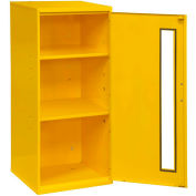 "Durham Spill Control Respirator Cabinet 052-50 - 13-3/4""W x 12-3/4""D x 30""H, Yellow"