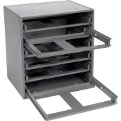 Durham Slide Rack 308-95 - For Small Compartment Storage Boxes - Fits Six Boxes