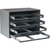 Durham Slide Narrow Rack 310B-95 - For Large Compartment Storage Boxes - Four Drawers