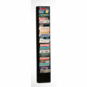 20 Pocket Vertical Literature Rack - Black